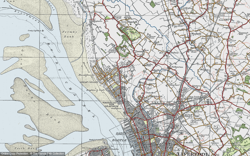 Old Maps of Great Crosby Francis Frith