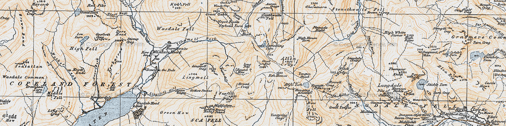 Old map of Tongue Head in 1925