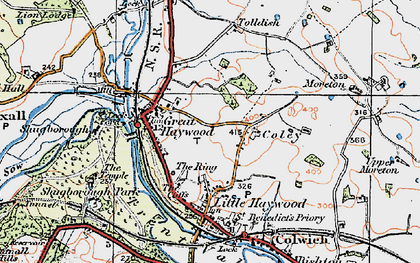 Old map of Tolldish in 1921