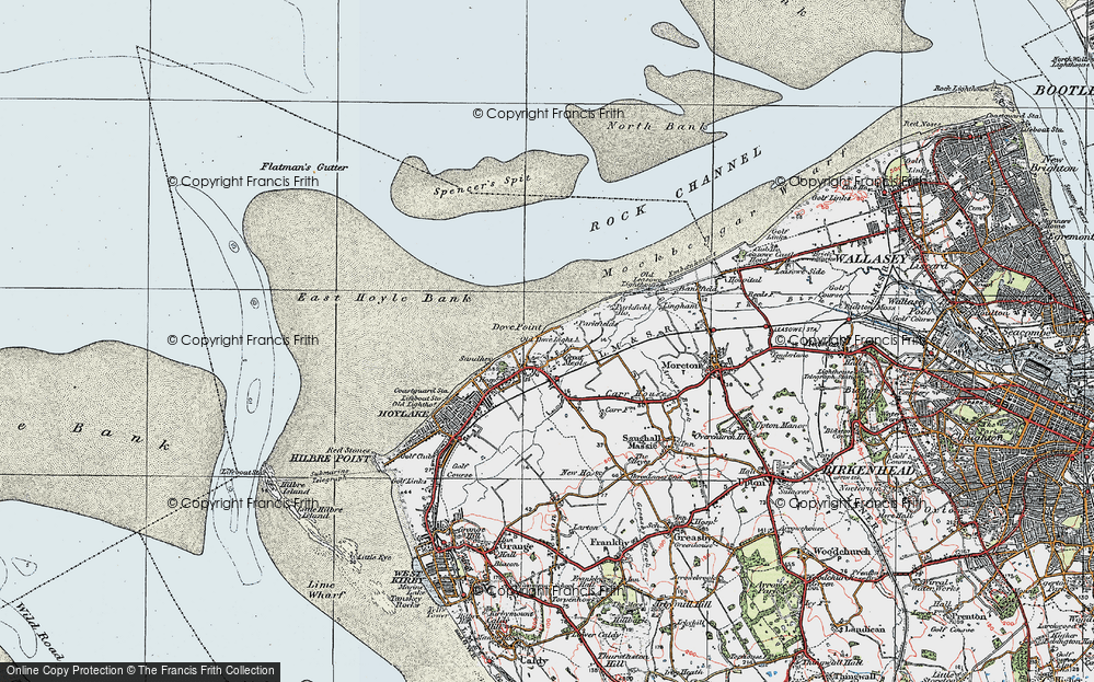 Old Map of Great Meols, 1923 in 1923