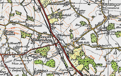 Old map of Great Missenden in 1919