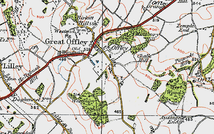 Old map of Westbury Wood in 1919