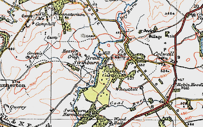 Old map of Wheathill in 1925