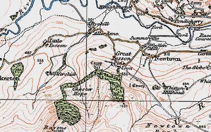 Old map of Wolfershiel in 1925
