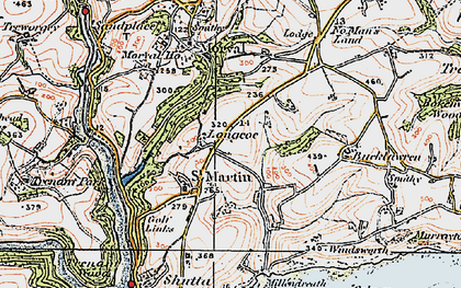Old map of Great Tree in 1919