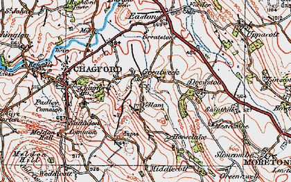 Old map of Yellam in 1919