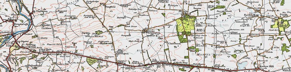 Old map of Todridge in 1925