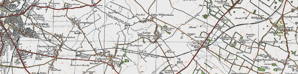 Old map of Wilbraham Temple in 1920