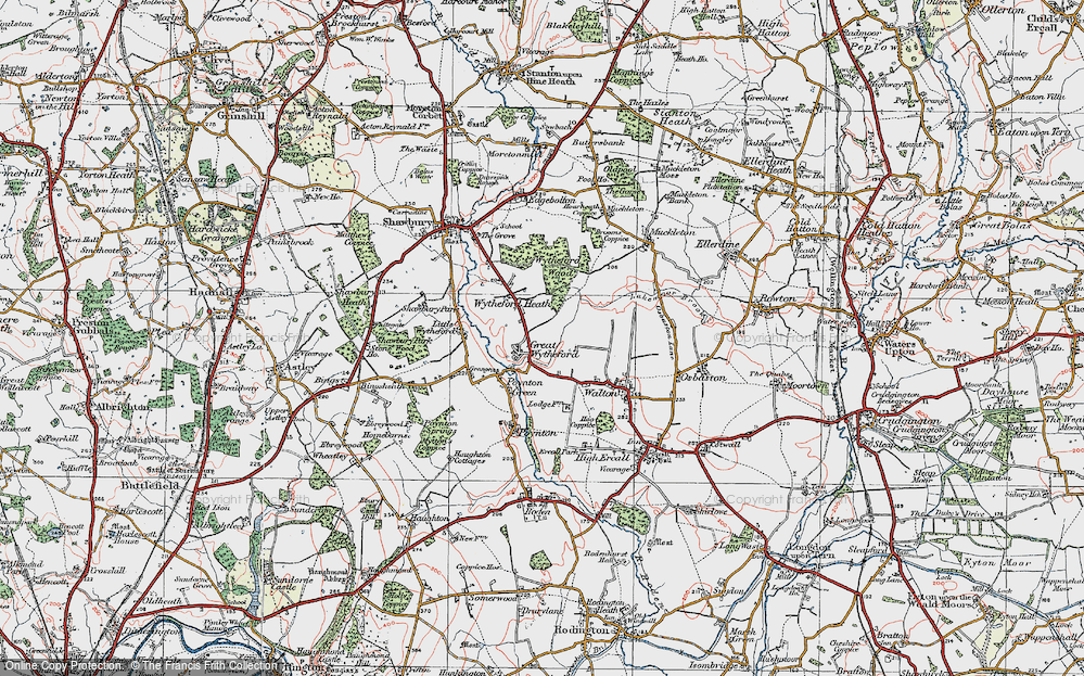 Old Map of Historic Map covering White Lodge in 1921
