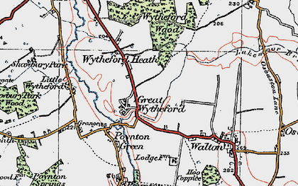 Old map of White Lodge in 1921