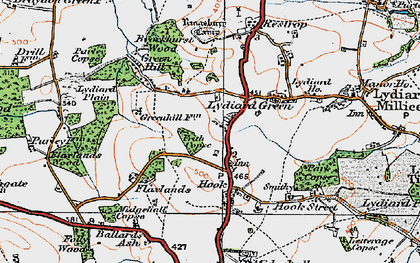 Old map of Greatfield in 1919