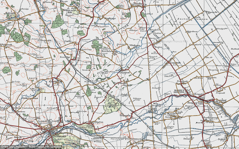 Old Map of Historic Map covering Banthorpe Wood in 1922
