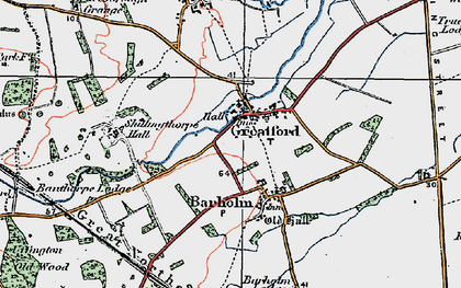 Old map of Banthorpe Wood in 1922