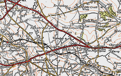 Old map of Green Bottom in 1919