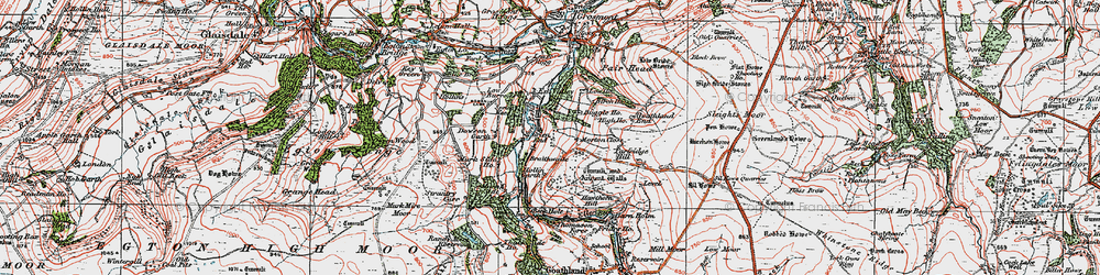 Old map of Beck Hole in 1925