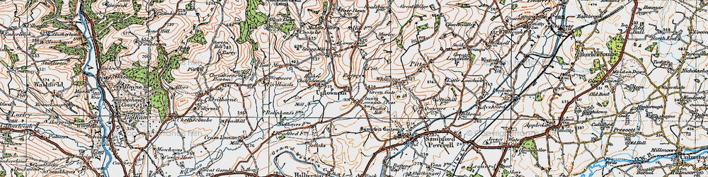 Old map of Wood in 1919