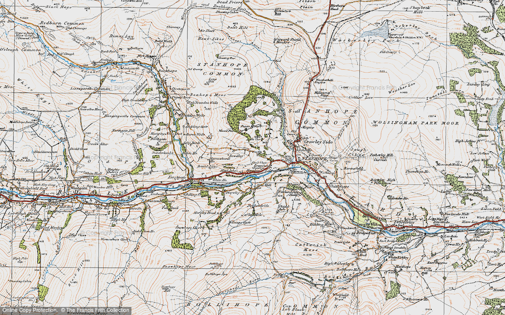Old Map of Historic Map covering Aller Gill in 1925