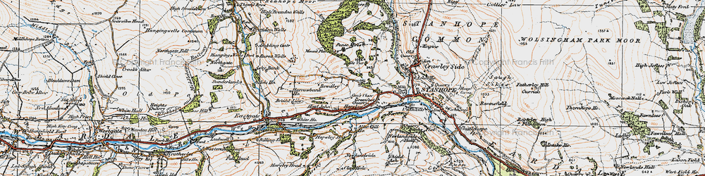Old map of Aller Gill in 1925