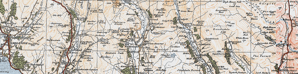 Old map of Withered Howe in 1925