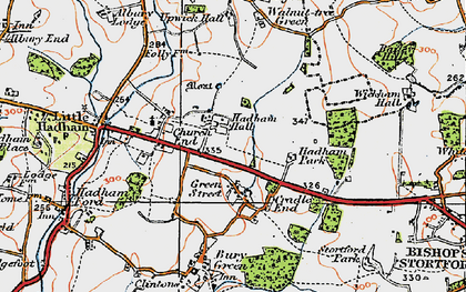 Old map of Green Street in 1919