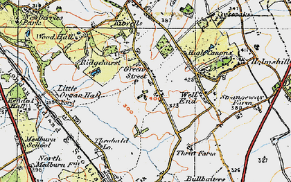 Old map of Green Street in 1920