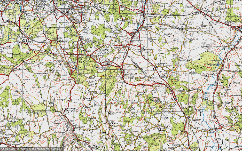 Old Map of Green Street Green, 1920 in 1920