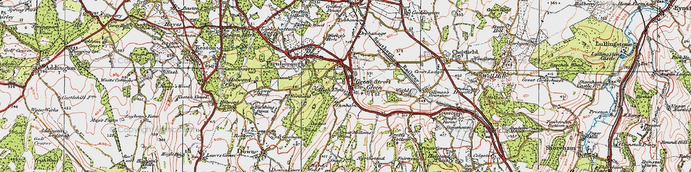 Old map of Green Street Green in 1920