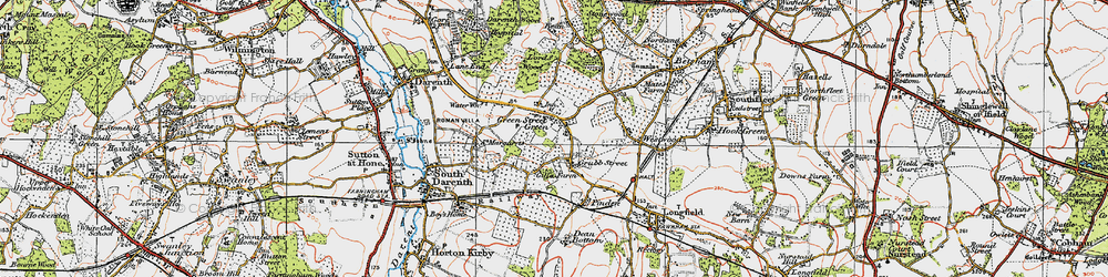 Old map of Westwood in 1920