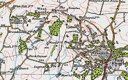 Old map of Green, The in 1919