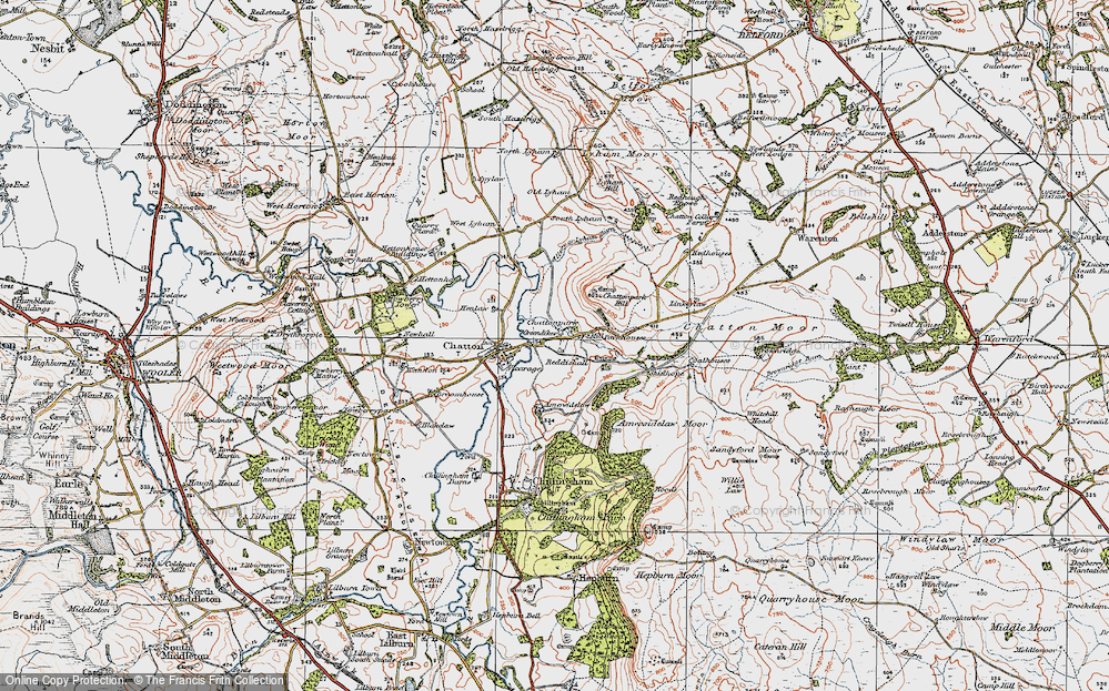 Old Map of Historic Map covering Linkeylaw in 1926