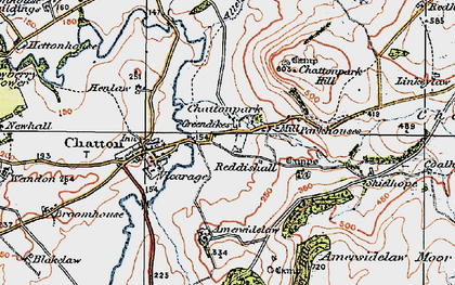 Old map of Amersidelaw Moor in 1926