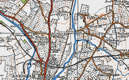 Old map of Leicester Tower in 1919