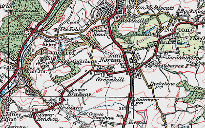 Old map of Greenhill in 1923