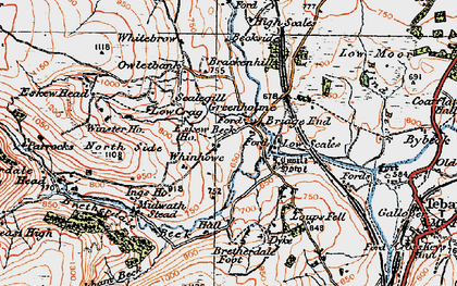 Old map of Whinhowe in 1925