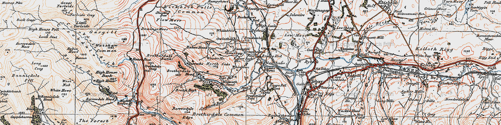 Old map of Whinash in 1925