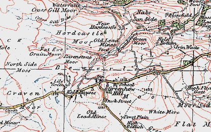 Old map of Lily Green in 1925