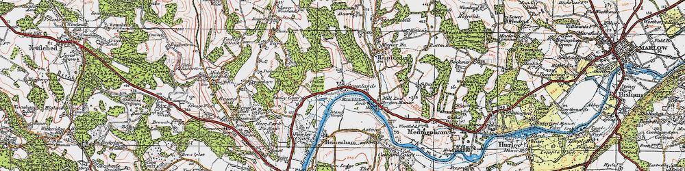 Old map of Woolleys in 1919