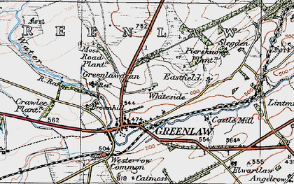 Old map of Woodheads in 1926