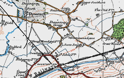 Old map of Greenman's Lane in 1919