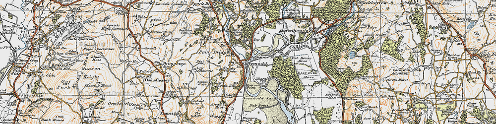 Old map of Legbarrow Point in 1925