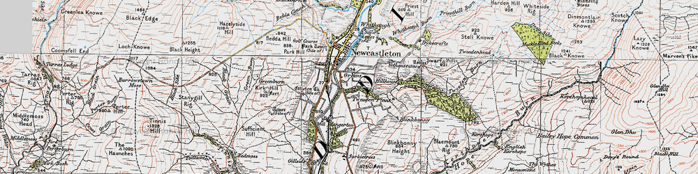 Old map of Thwartergill Head in 1925