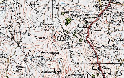 Old map of Greensplat in 1919