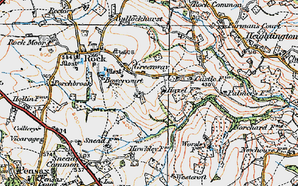 Old map of Worsley Ho in 1920