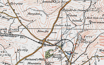 Old map of Banc Du in 1922
