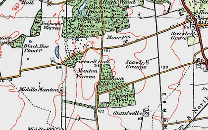 Old map of Aldham Plantn in 1923