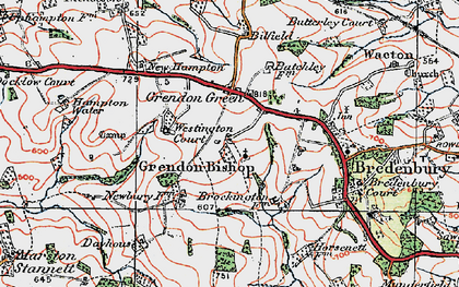 Old map of Westington Court in 1920