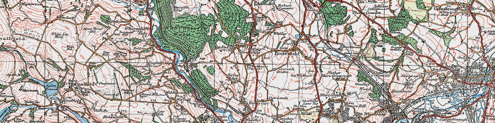 Old map of Grenoside in 1923