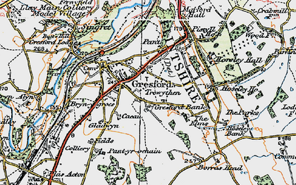 Old map of Gresford in 1924