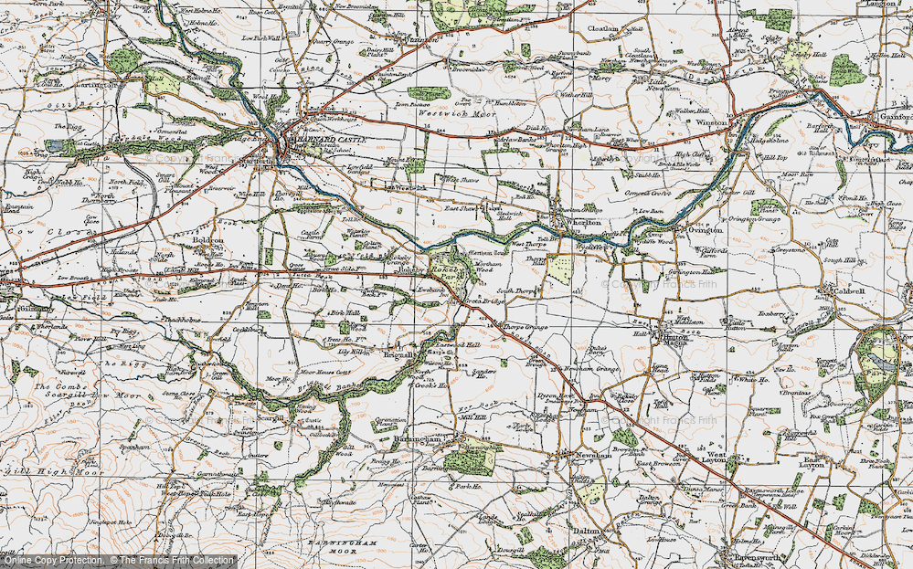 Old Map of Greta Bridge, 1925 in 1925