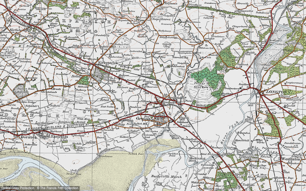 Old Map of Gretna Green, 1925 in 1925